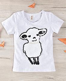 Party Princess Cute Print T- Shirt - Grey