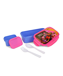 Chhota Bheem Lunch Box Chutki And Bheem Print - Blue Pink