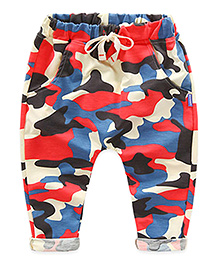 Pre Order : Mauve Collection Printed Pants - Red & Multicolour
