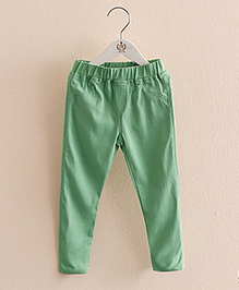 Mauve Collection Pretty Jeggings For Lil Girls - Green