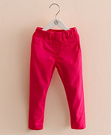 Pre Order : Mauve Collection Pretty Jeggings For Lil Girls - Rose