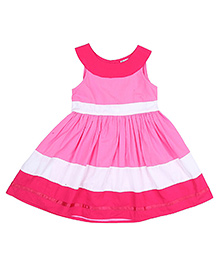 9 Yrs Younger Sleeveless Three Tier Dress - Pink White