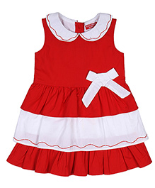 9 Yrs Younger Printed Skirt Bow Applique - Red White