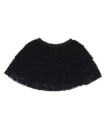 9 Yrs Younger Mesh Skirt - Black