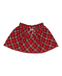 9 Yrs Younger Cotton Checks Skirt - Red