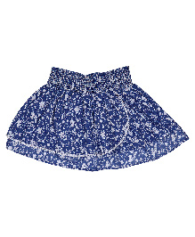 9 Yrs Younger Floral Print Skirt - Navy Blue
