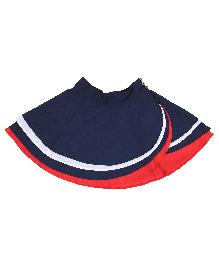 9 Yrs Younger Solid Color Skirt - Red And Navy