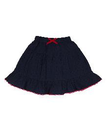 9 Yrs Younger Swiss Dot Skirt - Navy Blue
