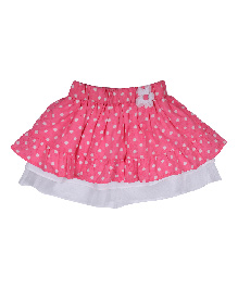 9 Yrs Younger Dot Print Skirt - Pink And White