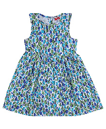 9 Yrs Younger Cotton Printed Frock - Blue