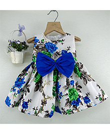Tiny Toddler Overall Floral Print Dress - Multicolor