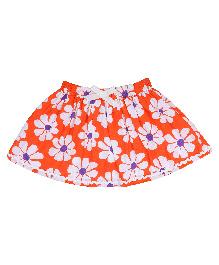9 Yrs Younger Floral Printed Skirt - Orange