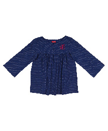 9 Yrs Younger Full Sleeves Printed Top- Blue