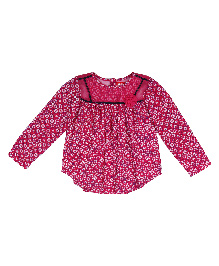 9 Yrs Younger Full Sleeves Printed Top - Pink