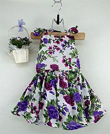 Tiny Toddler Floral Print Dress - Lavender