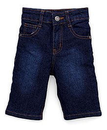 Babyhug Jamaican Three Fourth Pants - Dark Blue
