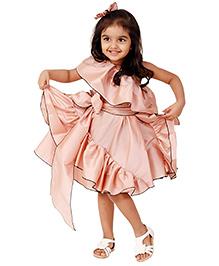 Kidology Fairytale Side Ruffle Dress - Blush