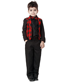Kidology London Punk Waist Coat - Red & Black