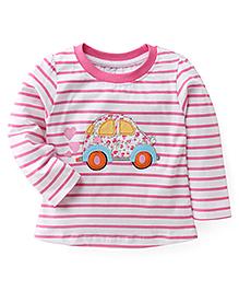 Babyhug Full Sleeves T-Shirt - Pink