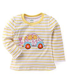 Babyhug Full Sleeves T-Shirt - Yellow