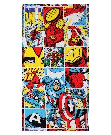 Spaces Bath Towel Marvel Comic Design - Multicolour