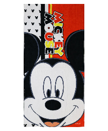 Spaces Disney Mickey Mouse Bath Towel - Red