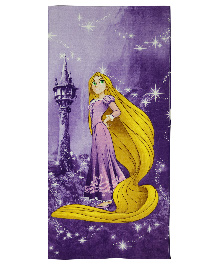 Spaces Disney Rapunzel Bath Towel - Purple