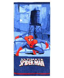 Spaces Spider Man Bath Towel - Navy