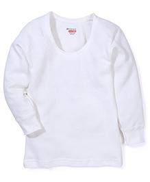 Bodycare Full Sleeves Striped Design Thermal Vest - Off White