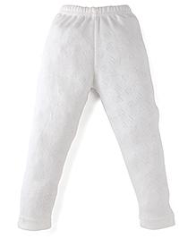 Bodycare Heart Design Thermal Leggings - Off White