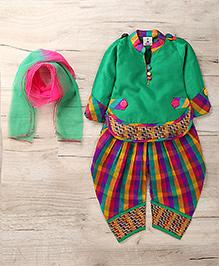 Aarika Cute Designer Kurti Patiala & Dupatta Set - Green