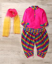 Aarika Cute Designer Kurti Patiala & Dupatta Set - Pink
