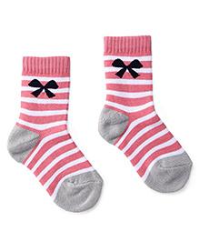 Cute Walk by Babyhug Socks Bow Design - Pink