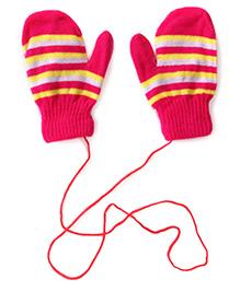 Model Stripe Hand Gloves - Pink