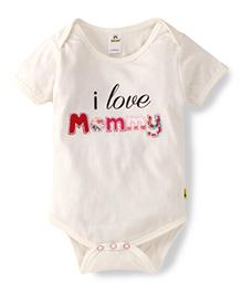 Tiny Bee Basic Mommy Print Onesie - White