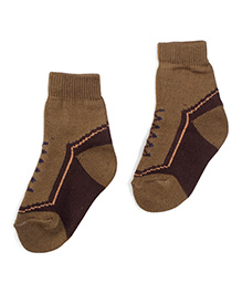 Model Ankle Length Winter Socks - Brown