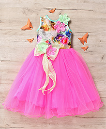 M'Princess Elegant Flower Party Gown - Pink