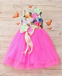 M'Princess Elegant Flower Party Gown - Pink