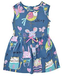 CrayonFlakes Animal Print Dress - Blue