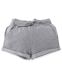 Fox Baby Plain Shorts - Grey Melange