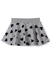 Fox Baby Skirt With Attached Bloomer Hearts Print - Grey