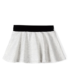 Fox Baby Skirt With Attached Bloomer - Stone Melange