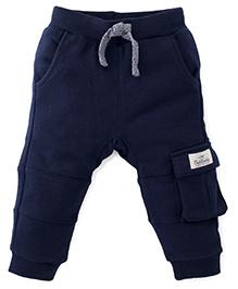 Fox Baby Full Length Track Pants - Dark Navy
