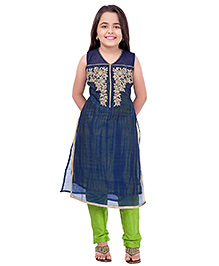 Betty By Tiny Kingdom Kurti & Churidar Set - Blue