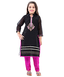 Betty By Tiny Kingdom Kurti & Churidar Set - Black