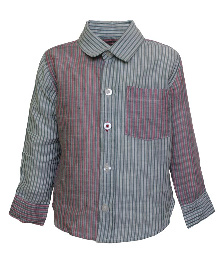 A Little Fable Full Sleeves Shirt Stripes Print - Multi Color