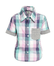 A Little Fable Full Sleeves Shirt Checks Print - Multi Color