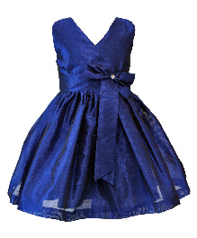 Darlee&Dache Party Dress Bow Applique - Navy Blue