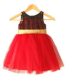 Frills N Frocks Lace Tutu Dress - Red