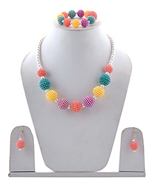Miss Diva Beaded Necklace, Bracelet & Earrings Set - Multi Color